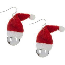 Brighten the Season Santa Hat Bell Drop Earrings