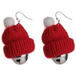 Brighten the Season Santa Party Hat Earrings