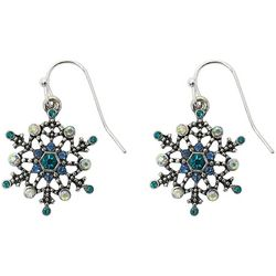Brighten the Season Jeweled Snowflake Earrings