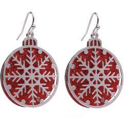 Brighten the Season Glitter Ornament Earrings