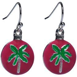 Brighten the Season Glitter Palm Ornament Earrings