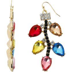 Brighten the Season Rhinestone Chirstmas Lights Earrings