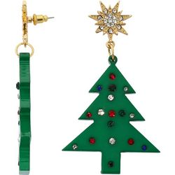 Brighten the Season Christmas Tree Drop Earrings