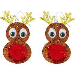 Brighten the Season Rudolph Pom Pom Earrings