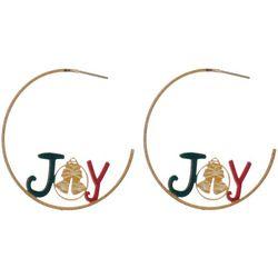 Brighten the Season Joy Goldtone Earrings