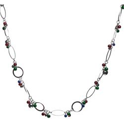 Brighten the Season Oval Links Jingle Bell Holiday Necklace