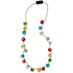 Flashing Jingling Holiday Necklace