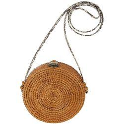 Four Seasons Wicker Snake Print Strap Handbag