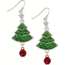 Brighten the Season Glittery Tree Dangle Earrings