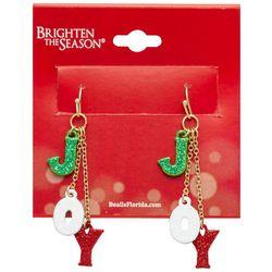 Brighten the Season Joy Dangle Earrings