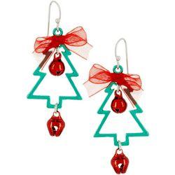 Brighten the Season Christmas Tree Earrings