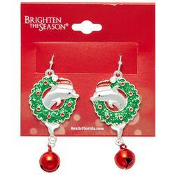 Brighten the Season Holiday Dolphin Earrings