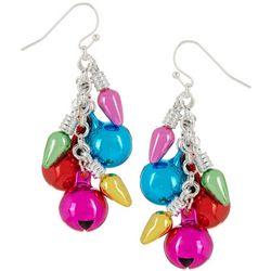 Brighten the Season Multicolored Bells Earrings