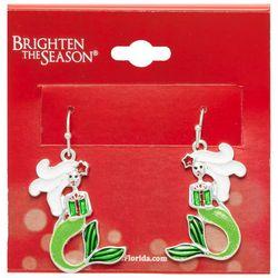 Brighten the Season Festive Mermaid Earrings