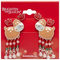 Brighten the Season Fun Reindeer Earrings