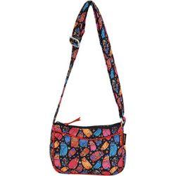 Laurel Burch Feline Ew Quilted Crossbody Handbag