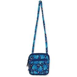 Laurel Burch Indigo Cat Quilted Crossbody Handbag