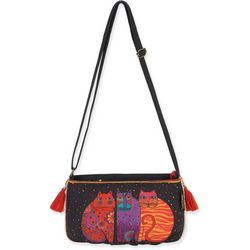 Laurel Burch EW Feline Crossbody Handbag