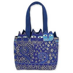 Laurel Burch Feline Friends Medium Tote Handbag