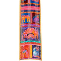 Laurel Burch Womens Fantastic Feline Totem Scarf