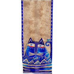 Laurel Burch Womens Azule Cat Scarf