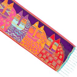 Laurel Burch Womens Wild Cats Scarf