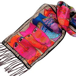 Laurel Burch Womens LB Cat Scarf