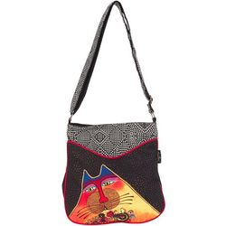 Laurel Burch A Bunch Of Love Cat Crossbody Handbag