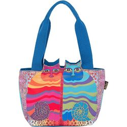 Laurel Burch Rainbow Felines Tote Handbag