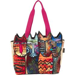 Laurel Burch Wildest Cats Tote Handbag