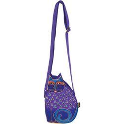 Laurel Burch Purple Cutout Cat Crossbody Handbag