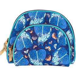 Laurel Burch Indigo Cats 2-pc. Cosmetic Bag Set