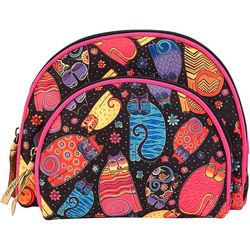 Laurel Burch Feline Friends 2-pc. Cosmetic Bag Set