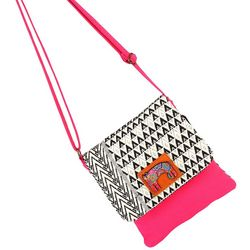 Laurel Burch Cat Pattern & Colorblock Crossbody Handbag