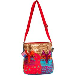 Laurel Burch Wild Cats Crossbody Handbag