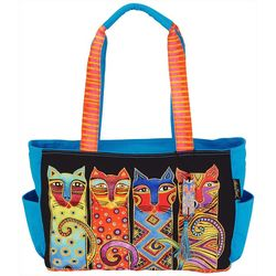 Laurel Burch Feline Clan Medium Tote Handbag