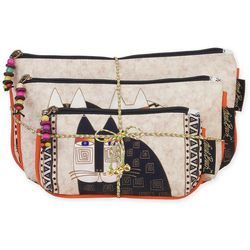Laurel Burch 3-pc. Cosmetic Wild Cats Bag Set