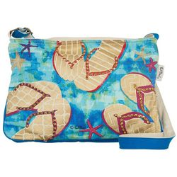 Paul Brent Flip Flop Embellished Medium Beach Bag Tote