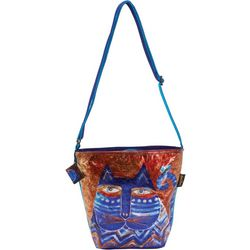 Laurel Burch Azule Foiled Crossbody Handbag