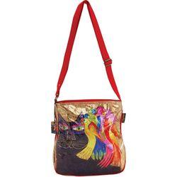Laurel Burch Ebony Cat & Birds Crossbody Handbag