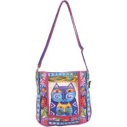 Laurel Burch Stacked Felines Crossbody Handbag