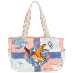 Guy Harvey Ocean Friends Medium Tote Handbag