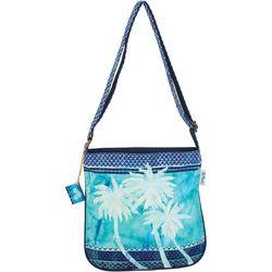 Paul Brent Palm Tree Blue Crossbody Handbag