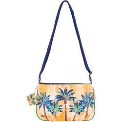 Paul Brent Blue Palm Crossbody Handbag