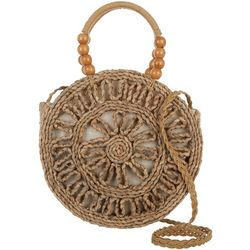 Sun N' Sand Natural Straw Crossbody Handbag