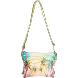 Sun N' Sand Watercolor Palms Crossbody Handbag