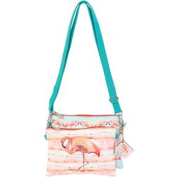 Sun N' Sand Pink Flamingo Crossbody Handbag