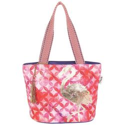 Paul Brent Medium St. Croix Flamingo Beach Bag Tote