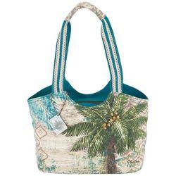 Sun N' Sand Escape Palm Medium Beach Bag Tote