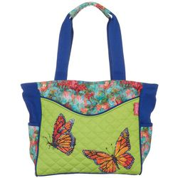Leoma Lovegrove Butterfly Kisses Beach Bag Tote